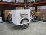 The eye-catching trikes make a great promotional tool. This pair are fitted with an insulated box and wicker pannier baskets