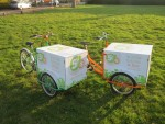 Ideal for food deliveries, these trikes are fitted with custom lunch deliveries boxes