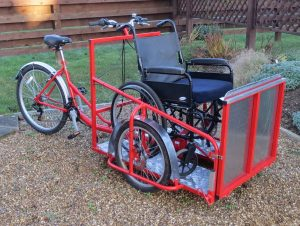 Wheelchair transporter trike