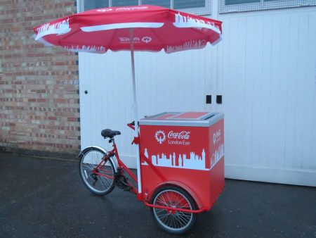 Custom built chiller drinks trike for Coca Cola at the London Eye