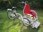 This Freerider is fitted with a custom-built single foot plate, ideal for passengers with less feet control.