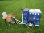 Fitted with 12v battery freezer, vinyl wrapped storage unit, baskets, mudguards and thermal handwash sink