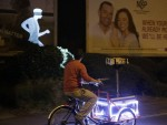 Projecting on the move in Cambridge for the KickstART project