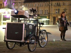 A projection trike commissioned by Urban Projects Ltd