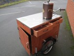 The Coffee Bike is fitted with a front door and two high level drawers