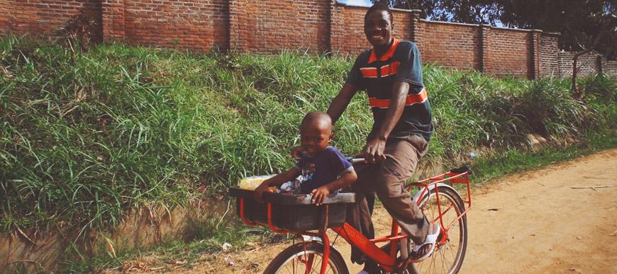 Elephant bike in Africa