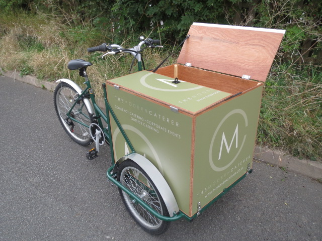 Cafe food delivery bike