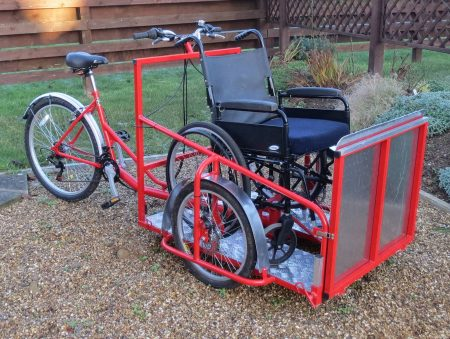 Wheelchair transporter trike