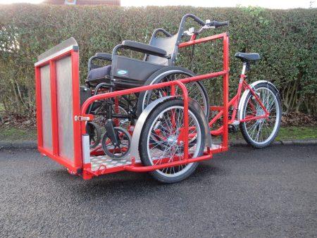 Wheelchair carrying bike