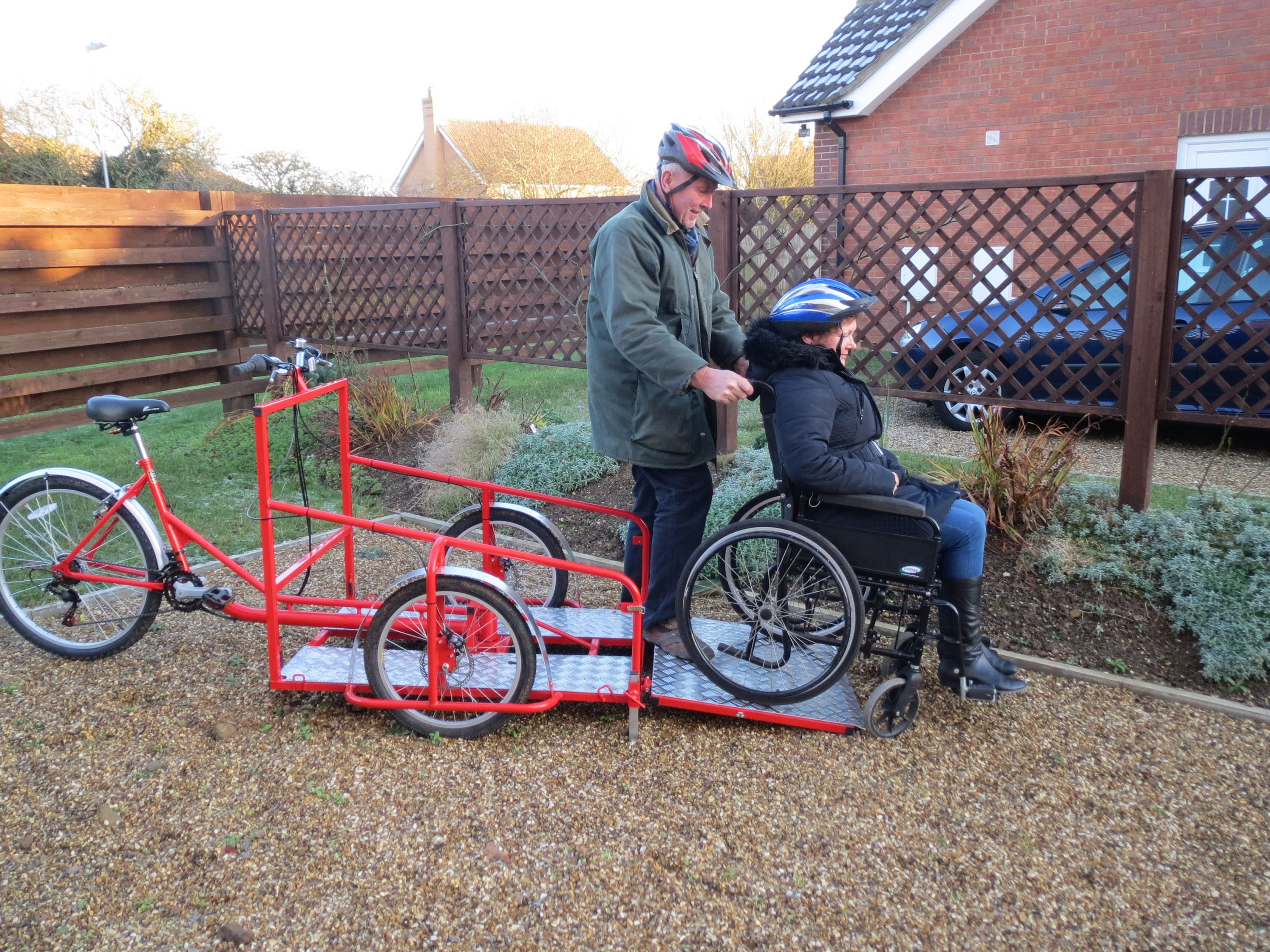 Wheelchair transporter bike