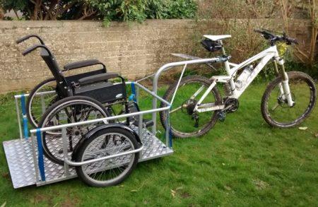 Wheelchair bike trailer